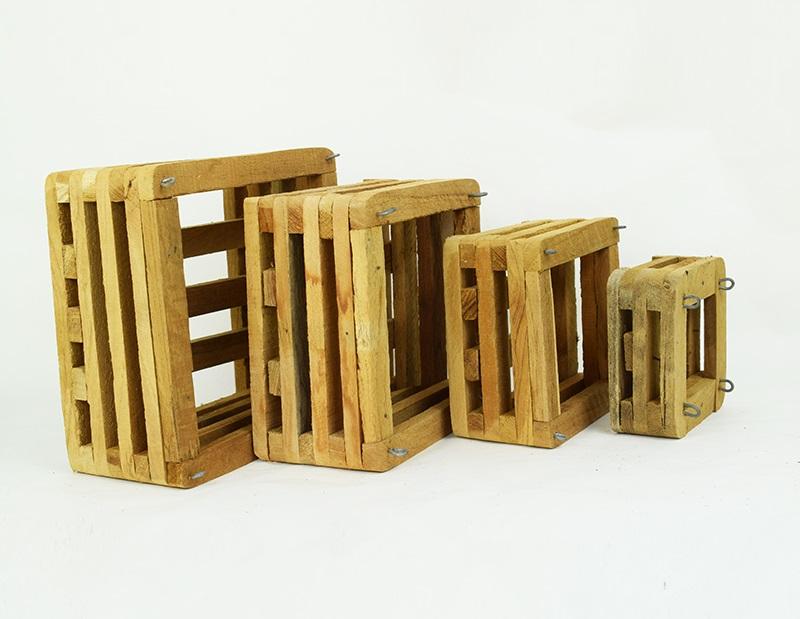 Koszyk z drewna egzotycznego do epifitów +zawieszka